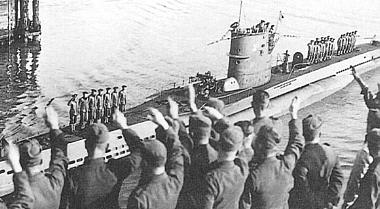 U-47 arrives back at Wilhelmshaven